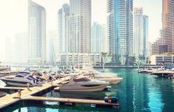 Dubai Marina at sunset Stock Photography