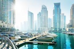 Dubai Marina at sunset Royalty Free Stock Image