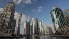 Dubai Marina time lapse Royalty Free Stock Photography