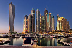Dubai Marina. During twilight, UAE Royalty Free Stock Images