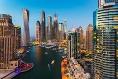 Dubai marina. UAE Fotografering för Bildbyråer