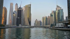 Dubai Marina, United Arab Emirates stock footage