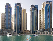 Dubai Marina View. Some of the completed towers in the posh upmarket extension of Dubai, Dubai Marina Stock Photos