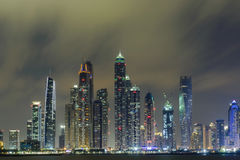 Dubai Marina. View of Dubai Marina in the evening Stock Images