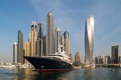 Dubai Marina. A view of Dubai marina from the sea Royalty Free Stock Images