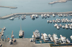 Dubai Marina yacht parking Royalty Free Stock Photography