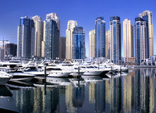 Dubai marina yaght bay Stock Photo