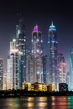 Dubai marinacityscape, UAE Royaltyfri Bild