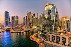 Dubai marinaskyskrapa Royaltyfria Bilder