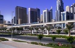 Dubai marinatunnelbana Arkivbild