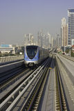 Dubai metro. A modern train in Dubai royalty free stock photography