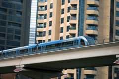 Dubai metro. Metro in Dubai,United Arab Emirates stock images