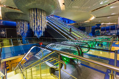 Dubai Metro as world's longest fully automated metro network (75 Royalty Free Stock Photos