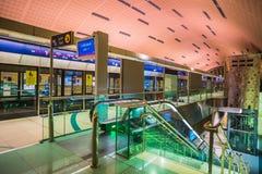Dubai Metro as world's longest fully automated metro network (75 Stock Images
