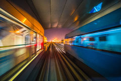 Dubai Metro as world's longest fully automated metro network (75. DUBAI, UAE - NOVEMBER 14: Dubai Metro as world's longest fully automated metro network (75 km) stock photos