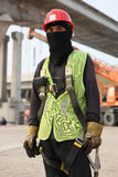 Dubai Metro Construction Worker Royalty Free Stock Images