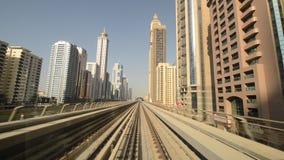 Dubai metro - driver view stock footage