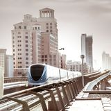 Dubai Metro Royalty Free Stock Photography