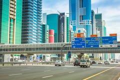 Dubai Metro footbridge royalty free stock photos
