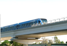 Dubai Metro Passing Royalty Free Stock Photos