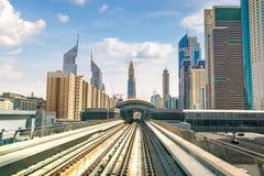 Dubai metro railway royalty free stock images