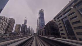 Dubai metro ride stock video footage