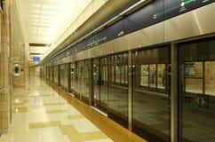 Dubai Metro Station. United Arab Emirates. Photo taken at 13th of January 2012 stock photos