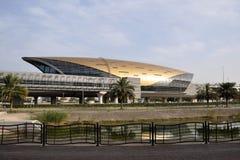 Dubai metro train station Stock Photos