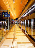 Dubai Metro Station Royalty Free Stock Photo
