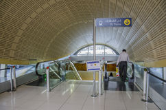 Dubai metro station Stock Images