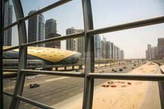 Dubai metro station view from a corridor hall