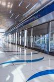 Dubai Metro Terminal in Dubai, United Arab Emirates. royalty free stock photography