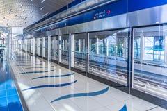 Dubai Metro Terminal in Dubai, United Arab Emirates. stock image