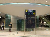 Dubai Metro Terminal in the UAE Stock Photography