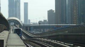 Dubai Metro Train stock video footage