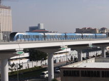 Dubai Metro Train in the UAE Stock Photography