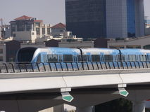 Dubai Metro Train in the UAE Stock Image