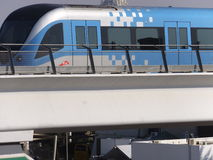 Dubai Metro Train in the UAE Stock Photo