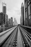 Dubai Metro. DUBAI, UAE - 4 MARCH, 2014: Dubai Metro as world's longest fully automated metro network (75 km royalty free stock image
