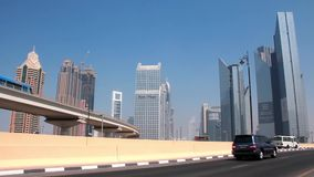 Dubai metro. United arab emirates stock video
