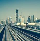 Dubai Metro Royalty Free Stock Photos