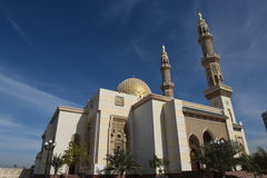Dubai, mezquita de Jumeirah Imagenes de archivo