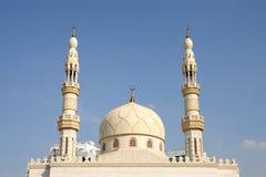 dubai minaretmoské Royaltyfria Foton
