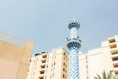 dubai minaretu meczet Zdjęcie Stock