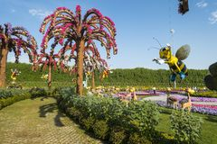 Dubai miracle garden stock photography