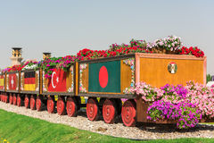 Dubai miracle garden with over million flowers Stock Images