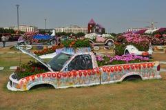 Dubai mirakelträdgård i UAE Arkivbilder