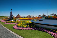 Dubai mirakelträdgårdar Royaltyfri Bild