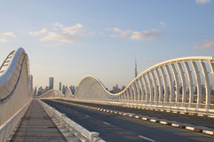 Dubai modern bridge Royalty Free Stock Photography