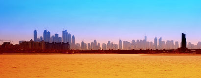 Dubai modern buildings Royalty Free Stock Images